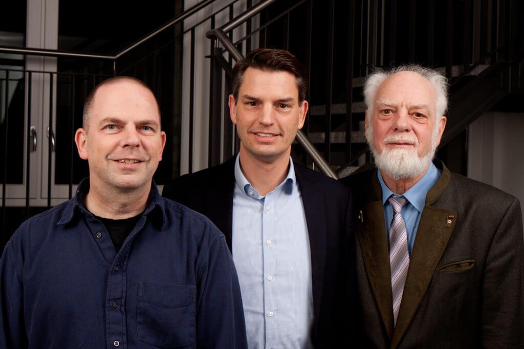 Gemeindeleitung Josua-Gemeinde Schenefeld v.l.n.r. Enno Ebert, Timo Plutschinski, Klaus Bartels