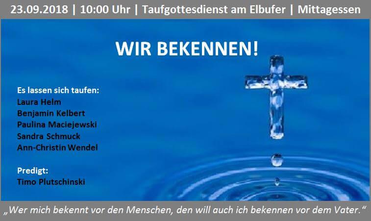 Themenbild Taufgottesdienst 23.08.2018