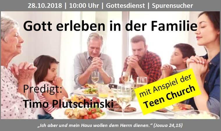 Themenbild Glaube in der Familie 28.10.2018