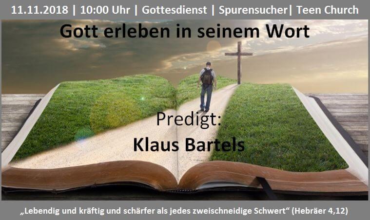 Themenbild Glaube in seinem Wort - Klaus Bartels