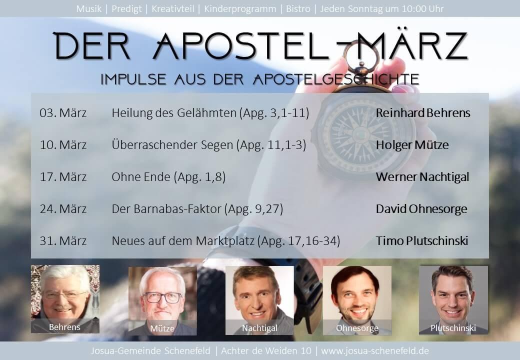 Der Apostel März