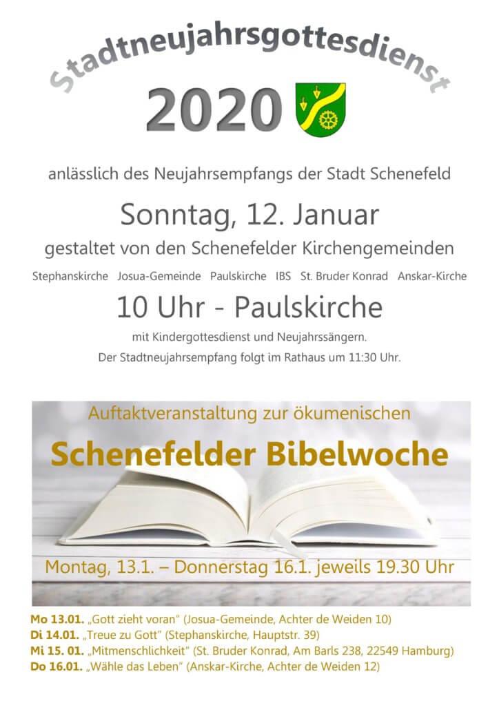 Plakat Neujahr 2020